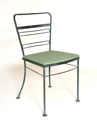 Mid Century Iron Patio/Garden Table and Four Chairs at 1stdibs