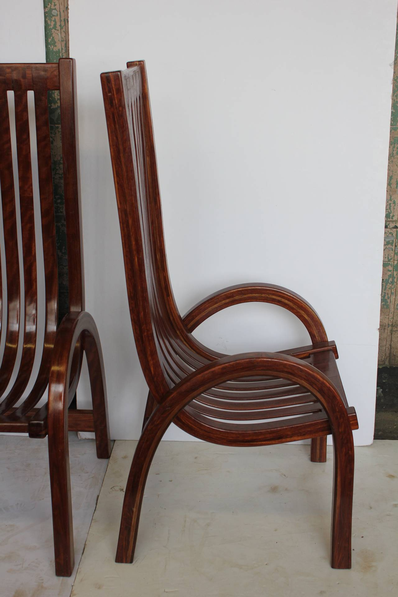 Tall Back Dining Chairs Modern Bentwood Tall Back Dining Chairs For Sale At 1stdibs