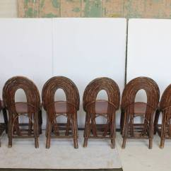 Adirondack Style Dining Chairs Round Glass And Wood Table Stylish Antique Set Of Six For Sale At
