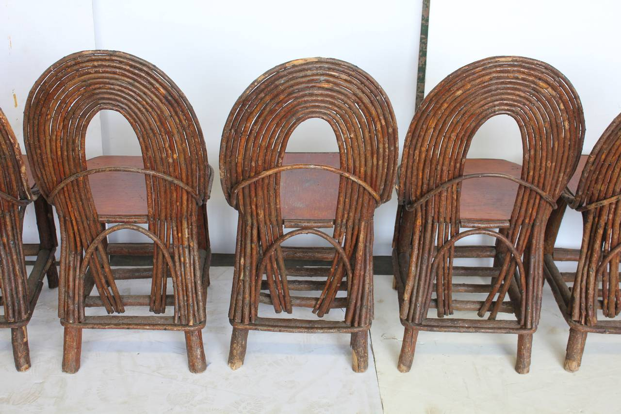 adirondack style dining chairs chair design basics stylish antique set of six for sale at