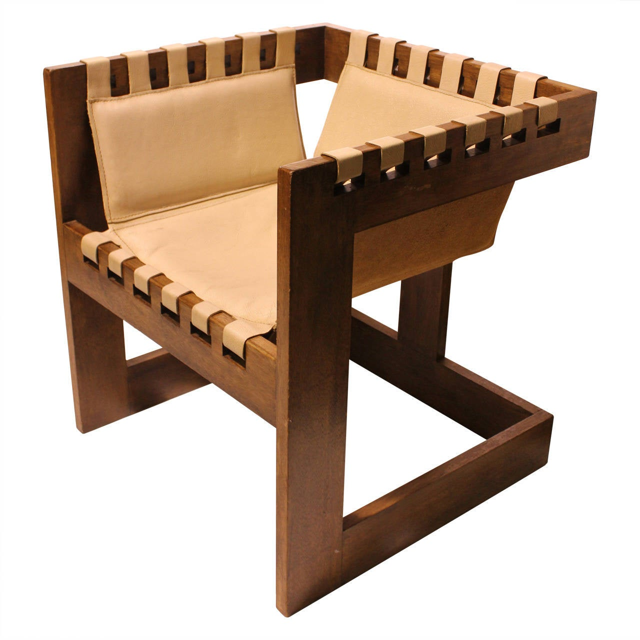 sling chairs for sale wooden high chair singapore modern wood and leather at 1stdibs
