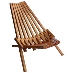 Wooden Lounge Chair Baby Eating Mid Century Wood Folding For Sale At 1stdibs