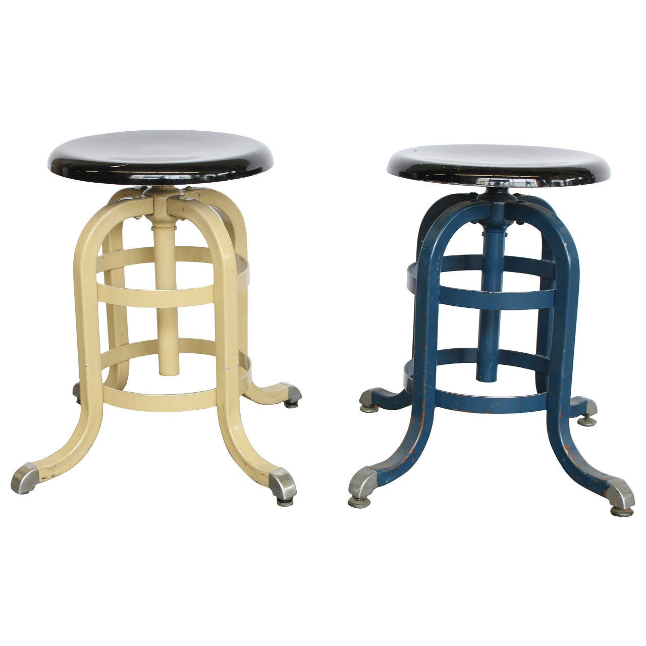 united chair medical stool folding caddy 1930s american adjustable for sale at 1stdibs