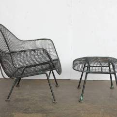 Lounge Chair Outside Wedding Covers Hire North West Mid Century Sculptura Garden And Ottoman By Woodard For Measures H 13
