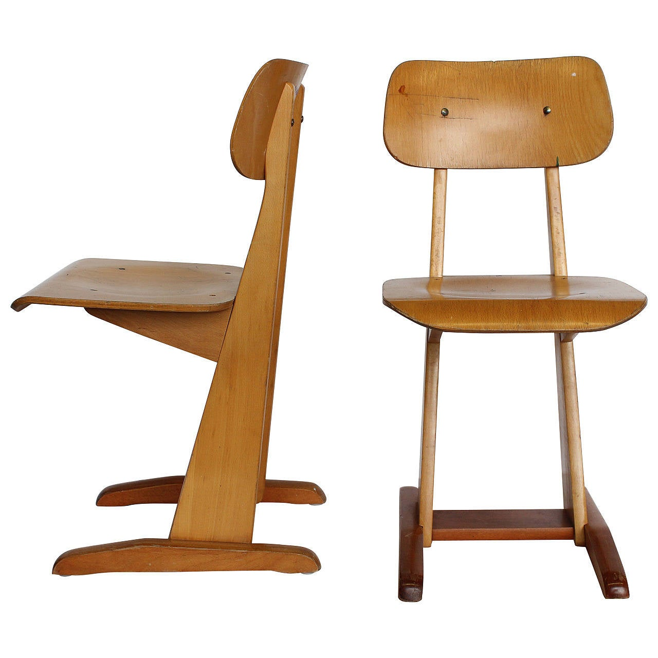 bauhaus swivel chair fisher price space saver high replacement straps 1950s german sled school chairs by karl nothelfer