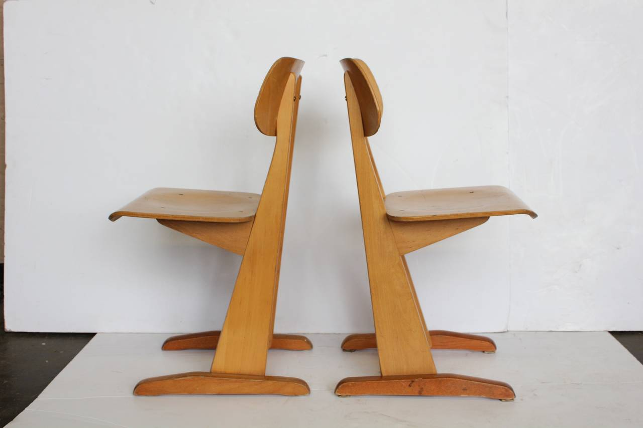 bauhaus swivel chair saarinen executive 1950s german sled school chairs by karl nothelfer