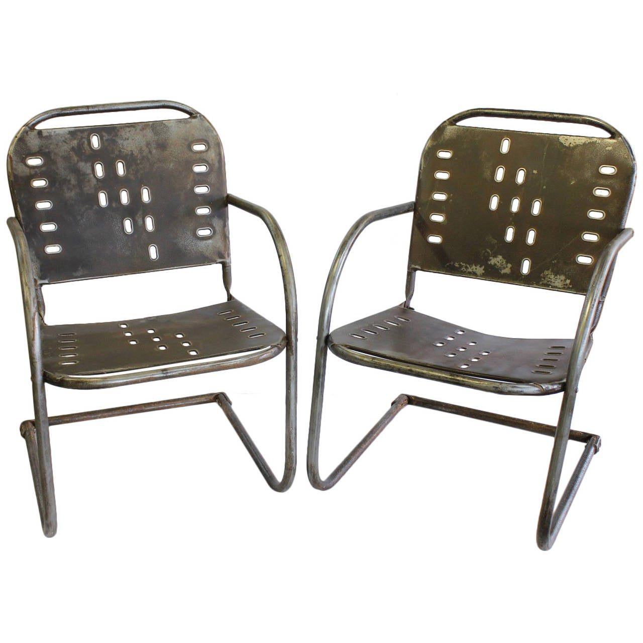 Metal Garden Chairs Mid Century Garden Metal Lounge Chairs At 1stdibs