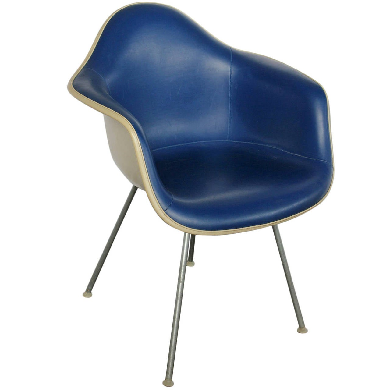 Charles Eames Lounge Chair Blue Naugahyde Chair By Charles And Ray Eames For Herman
