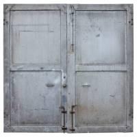 Antique Double Metal Industrial Doors at 1stdibs