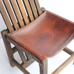 Accent Chairs For Sale Lawn At Walmart Antique Leather And Oak Chair 1stdibs
