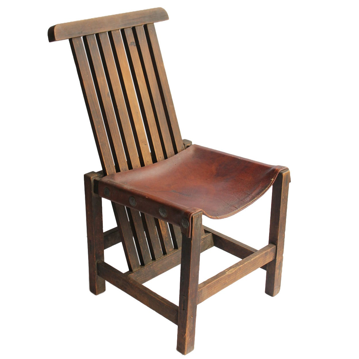 Accent Chairs Sale Antique Leather And Oak Accent Chair For Sale At 1stdibs