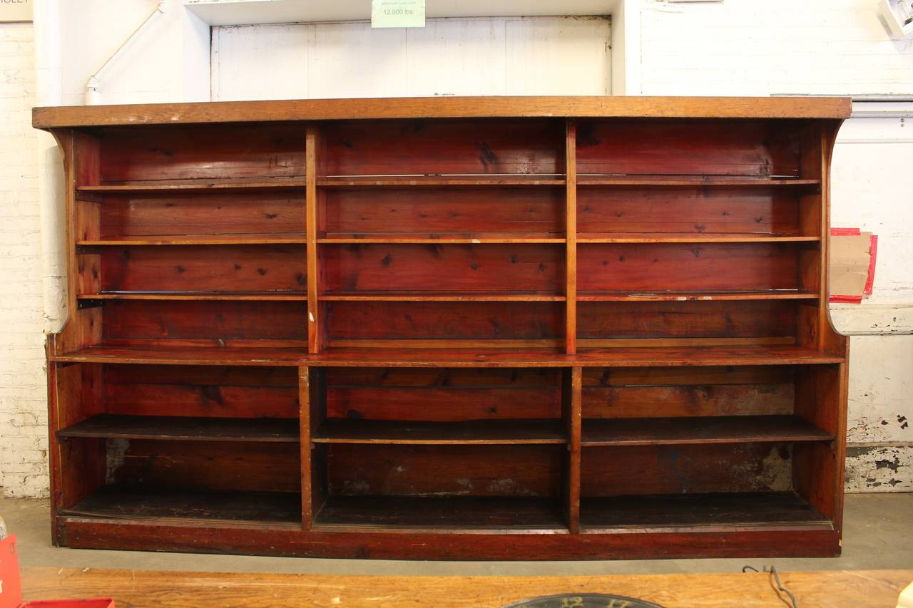 kitchen cart with wheels remodels under 5000 antique american department store shelves for sale at 1stdibs