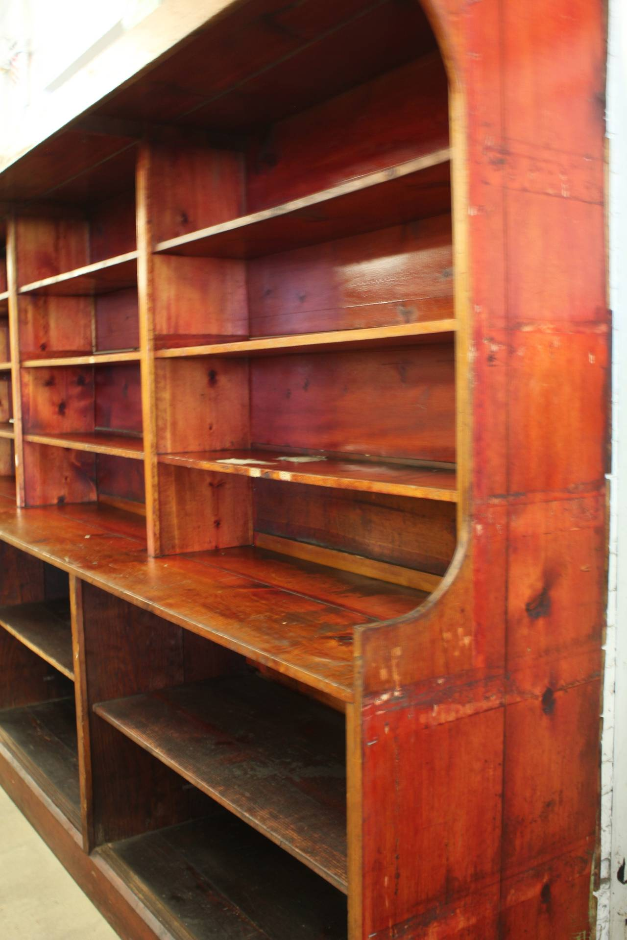 wood shelves kitchen bay windows antique american department store for sale at 1stdibs