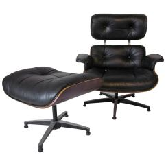 Eames Style Lounge Chair And Ottoman Rosewood Black Leather Laugh Learn Plycraft Styled At