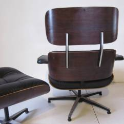 Eames Style Lounge Chair And Ottoman Rosewood Black Leather Swivel Operations Plycraft Styled At