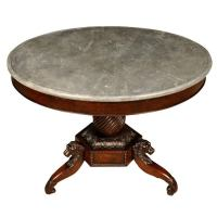 Antique English Marble Top Round Central Table (#FD-FTP511 ...
