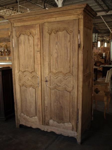 country style bedroom armoire French Antique Country Style Armoire in Washed Oak at 1stdibs