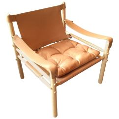 Leather Safari Chair Designer Covers Gregory Hills Nsw Arne Norell Lounge At 1stdibs