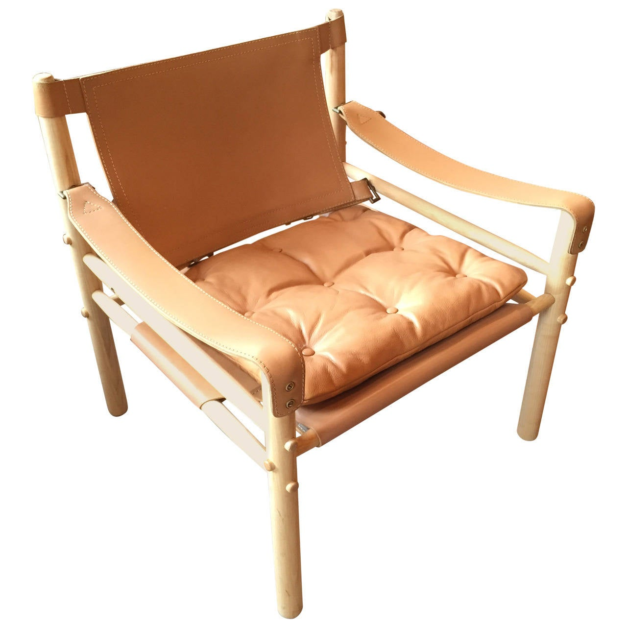 Safari Chair Arne Norell Leather Safari Lounge Chair At 1stdibs