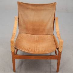Leather Safari Chair Installing A Hammock Indoors Hans Olsen 1960s Suede And At 1stdibs