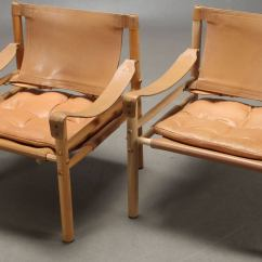 Leather Safari Chair Hammock Stand Calgary Pair Of Sirocco Chairs By Arne Norell