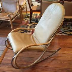 Img Chairs For Sale Eames Style Office Nonna Rocking Chair By Paul Tuttle In Cream Leather