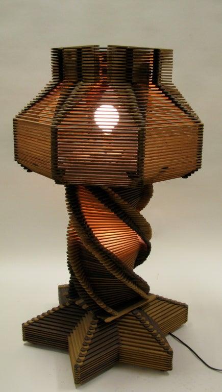 1950 Gigantic Maine Prison Art Stick Lamp At 1stdibs