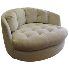 Comfortable Swivel Chair Bedroom Buttoned 1960 Milo Baughman Extra Large Tub At