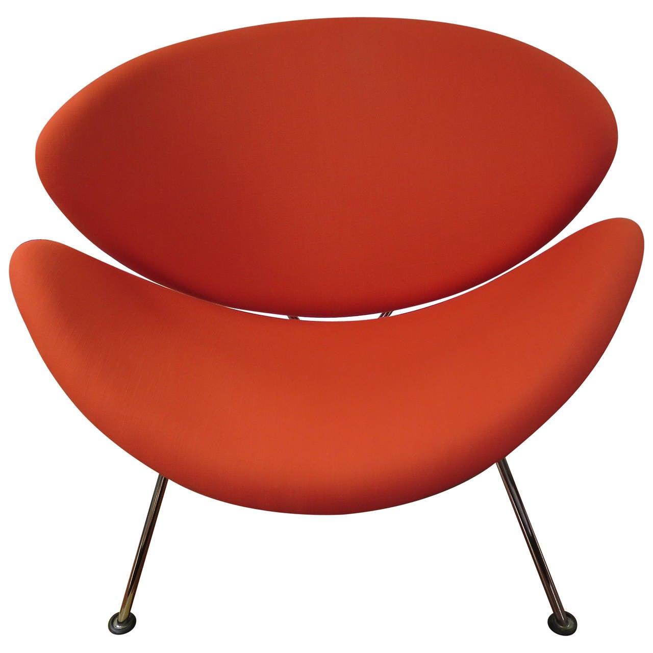 orange slice chair dressing table vibrant 1960s pierre paulin for artifort