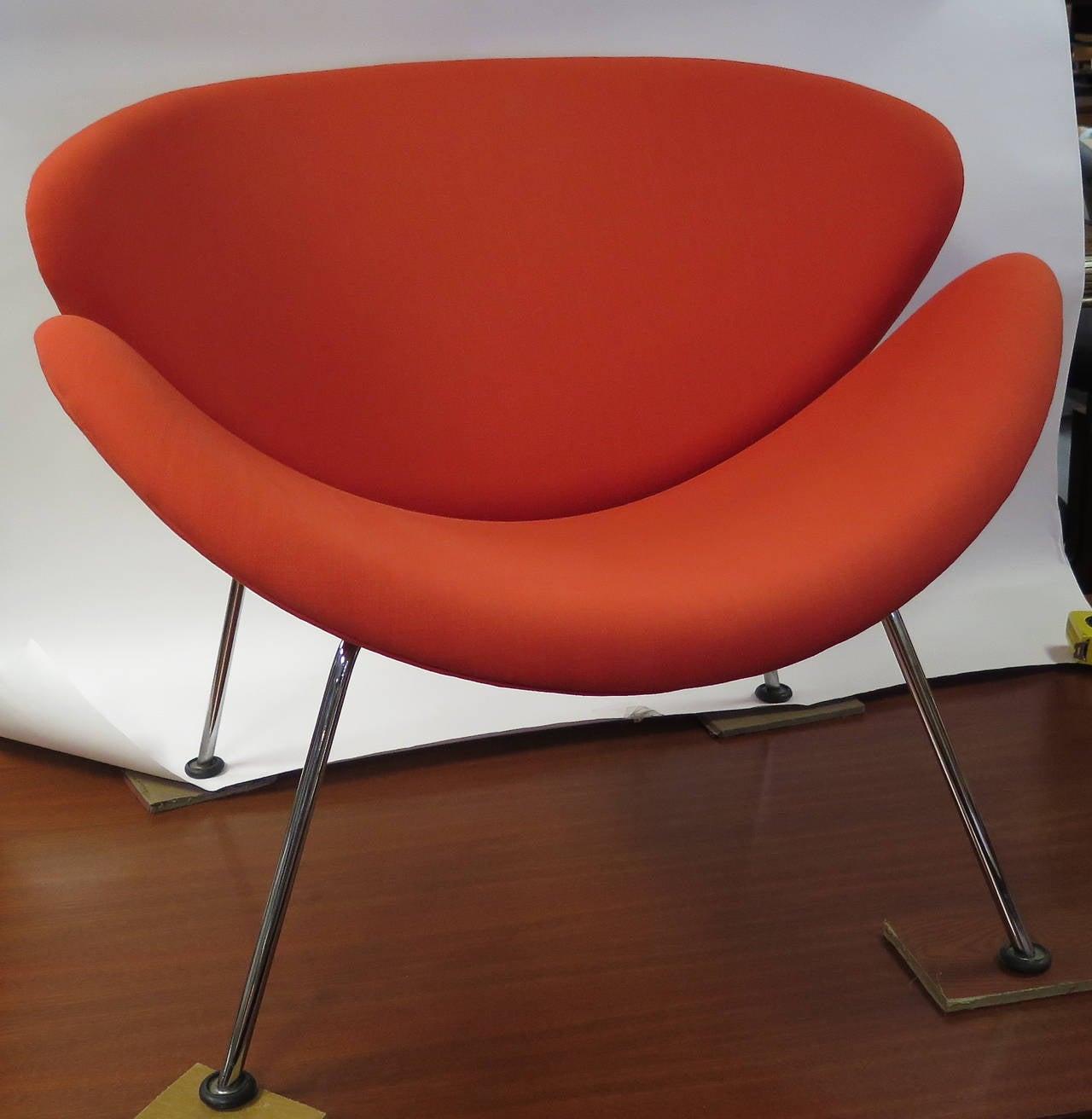 orange slice chair jessica charles swivel vibrant 1960s pierre paulin for artifort