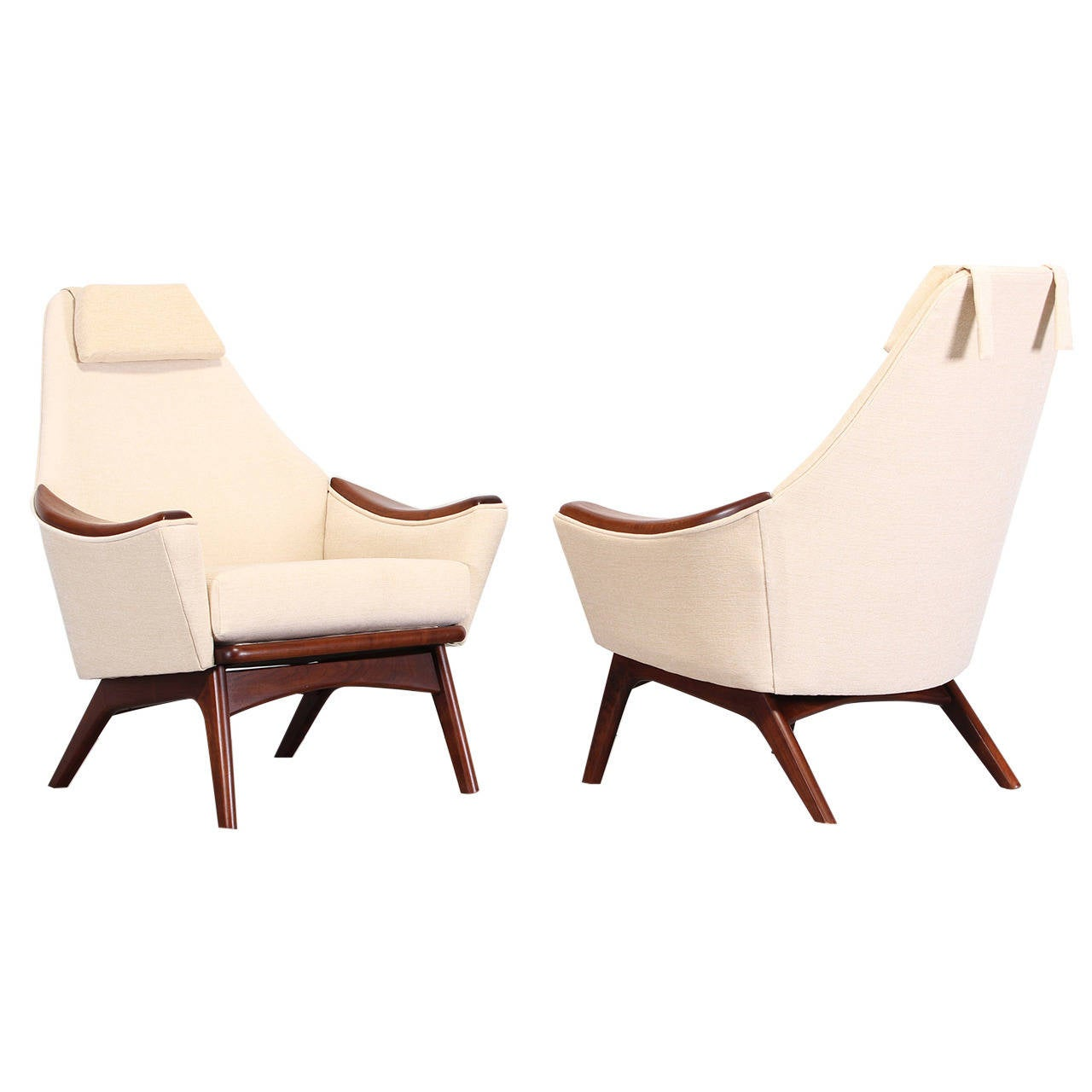 adrian pearsall chair drive medical bathroom safety shower tub bench pair of lounge chairs model 1806 c 1960