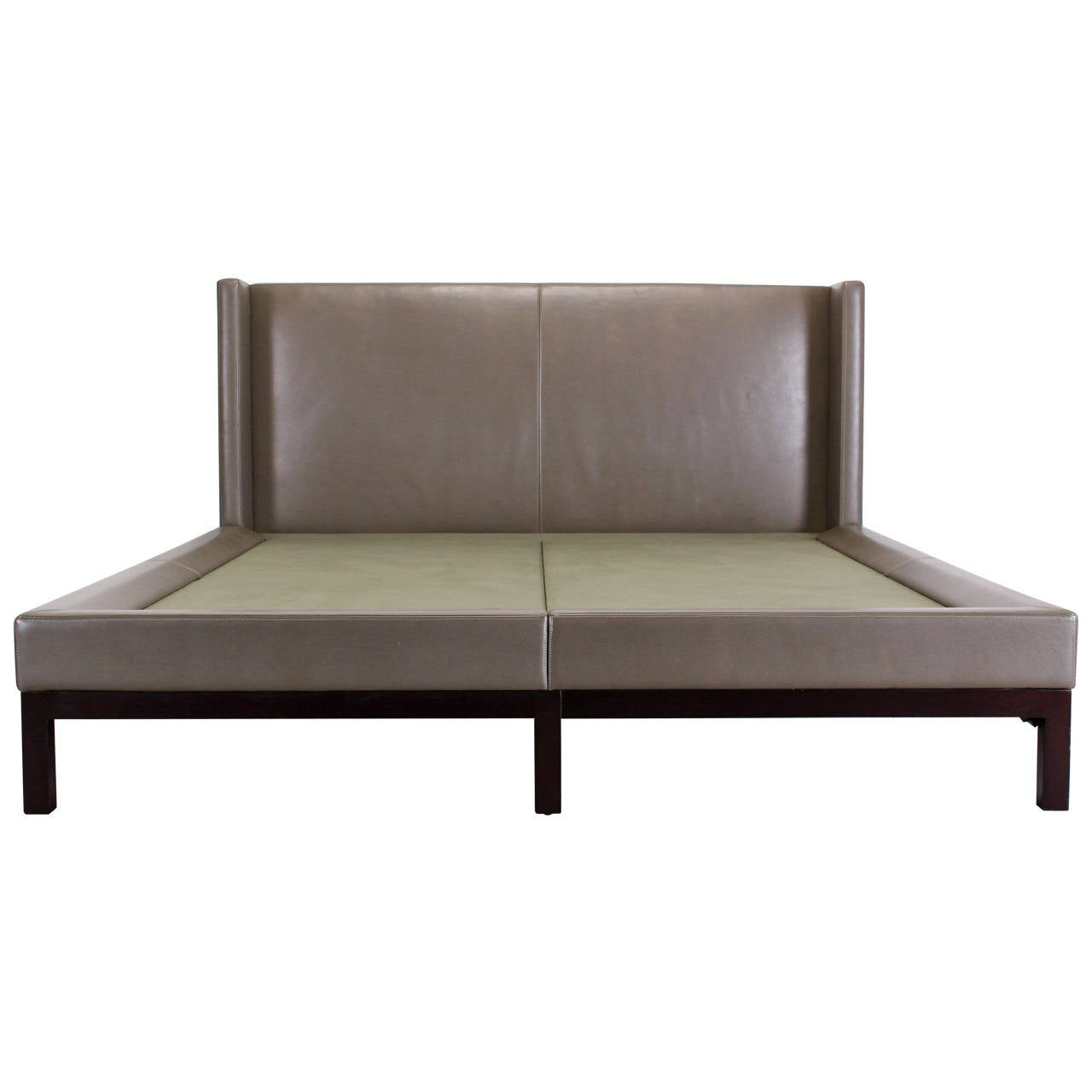 holly hunt sofa cost cad block elevation christian liaigre leather quotoman quot bed for at 1stdibs