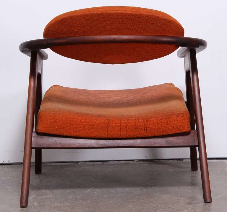 adrian pearsall chair designs turquoise desk mid century modern walnut captain's 916-cc at 1stdibs