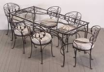 Seven-piece Wrought Iron Patio Set Salterini 1940 1stdibs