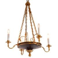 Empire Style Bronze Chandelier at 1stdibs