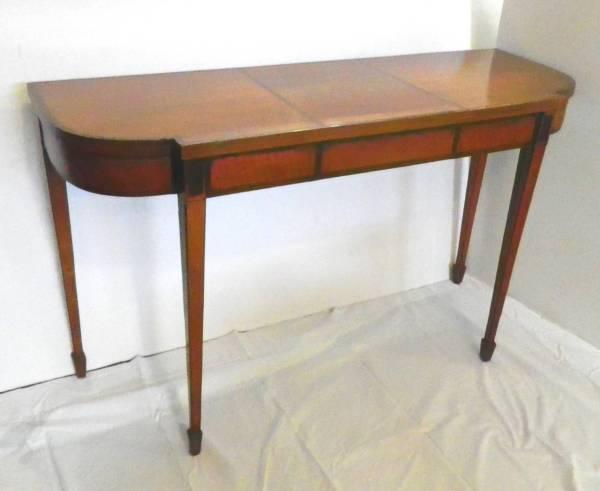 Hepplewhite Satinwood Console Table 1stdibs