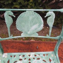 Chinese Chippendale Chairs Folding Chair Covers Target Vintage Bench, By Molla With Shell And Seahorses At 1stdibs