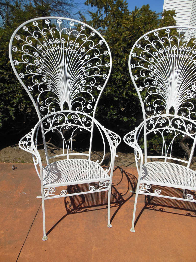 iron patio chair toys r us baby chairs vintage salterini peacock for sale at 1stdibs