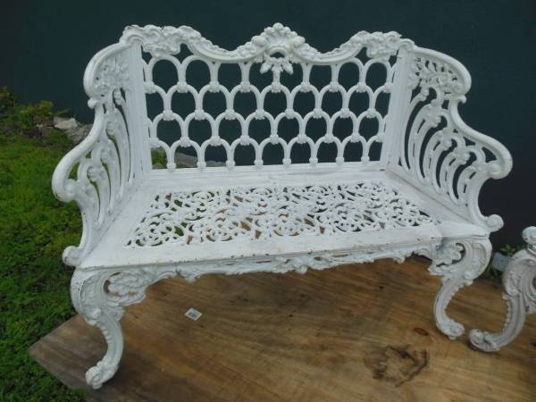 Benches Cast Iron Pair Of White House Garden