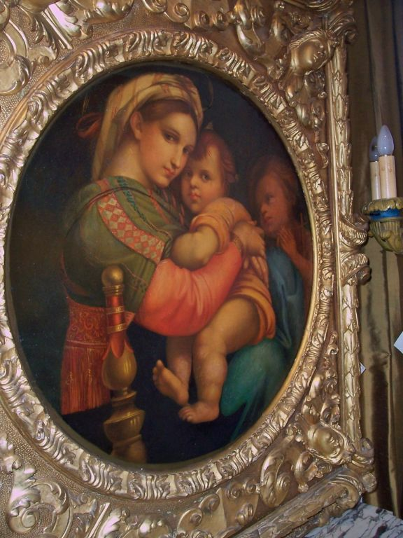 madonna of the chair covers wedding to buy after raphael monumental gilt frame at 1stdibs italian