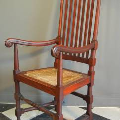 William And Mary Chair Baby Car Covers Style Carved Mahogany Arm Colonial