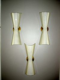 Set of Italian Hand Blown Glass Sconces at 1stdibs