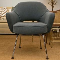 Swivel Chair Mid Century Velvet Armchair Melbourne Saarinen Executive Armchair, Vintage Knoll Charcoal For Sale At 1stdibs
