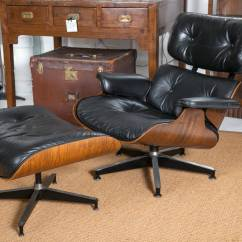 Eames Lounge Chair Used Covers Ribbons Bows Vintage And Ottoman At 1stdibs