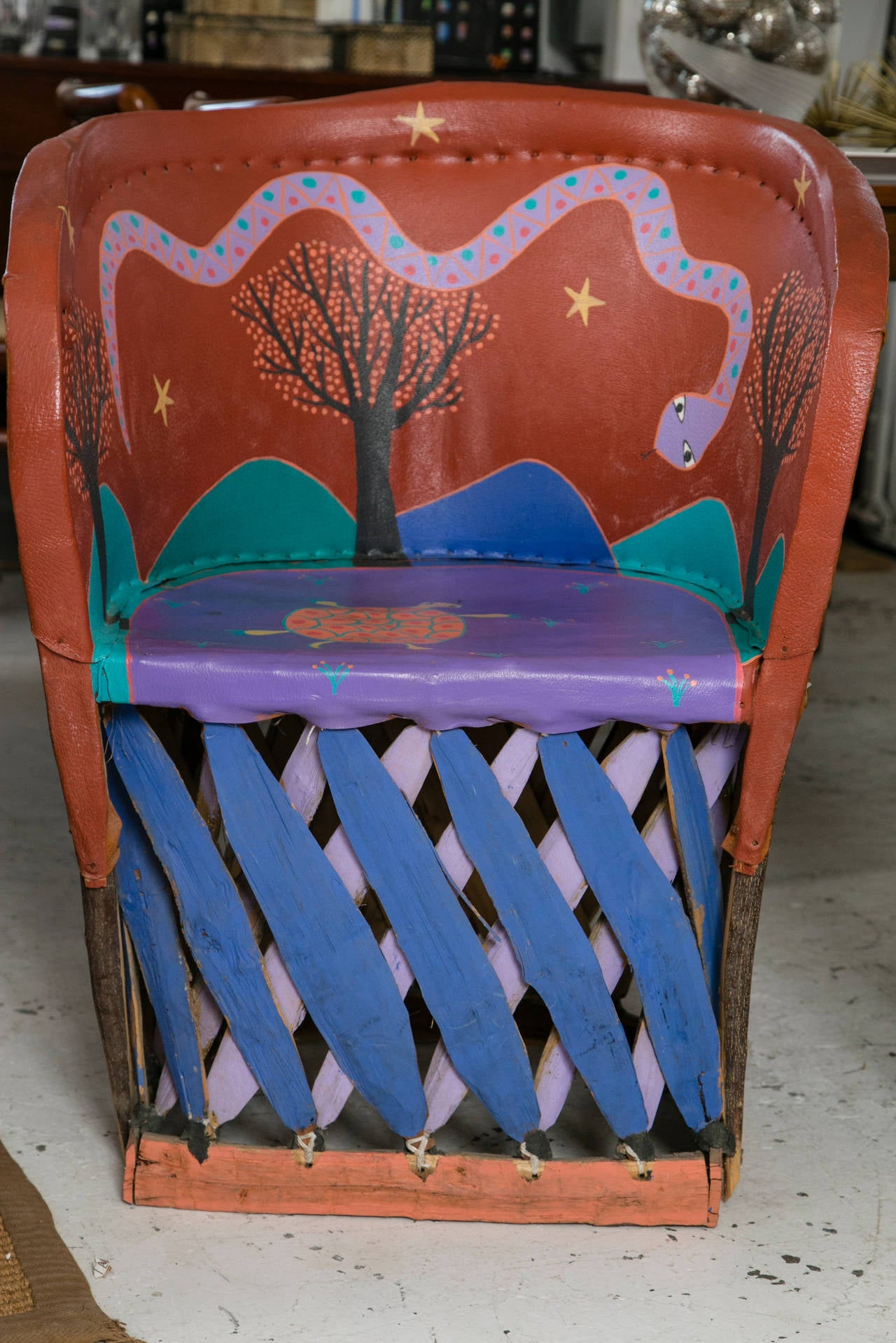 stool chair fantastic furniture bed pillow backrest set of painted chairs from santa fe new mexico