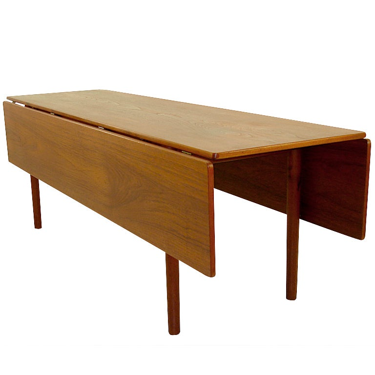Danish Modern Teak Harvest Style Dining Table By Borge