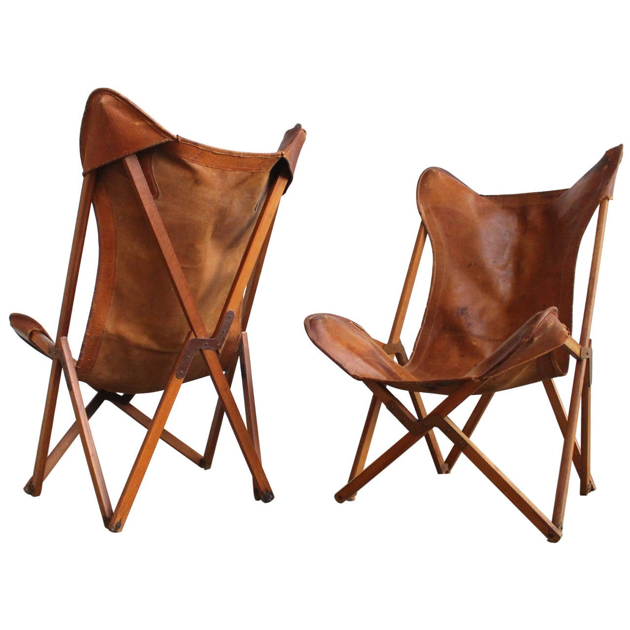 Very Rare Original Stamped Tripolina Chairs by Joseph
