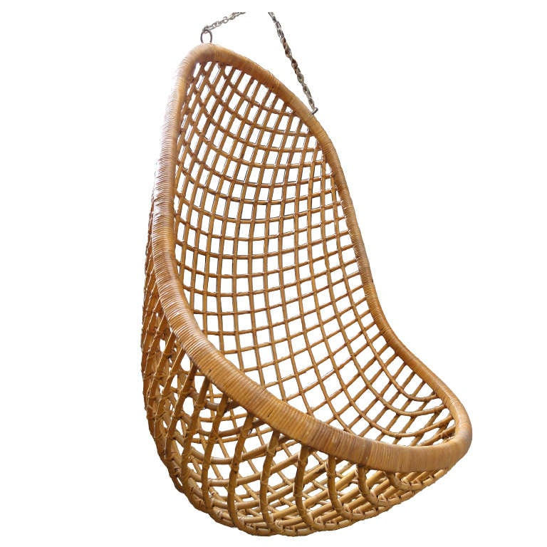 hanging wicker chair weaving with rope rattan rohe noordwolde the netherlands 1960 s at 1stdibs for sale