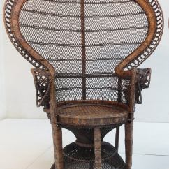 Rattan Peacock Chair Fisher Price Doll High Pair Of Iconic 1970s 39 39emmanuelle Sylvia Kristel Wicker