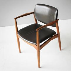Erik Buck Chairs Adirondack Table And Chair Set Teak Leather By Eric For Ø Mobler Denmark